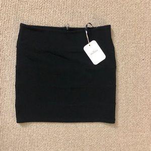 Black banded skirt